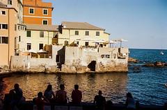 Ligurian vibes (Lentejas Puag) Tags: 35mm film filmisnotdead summer summertime throwback nikonf70 architecture italy italia genova bocadasse liguria sea beach italiandays 2018