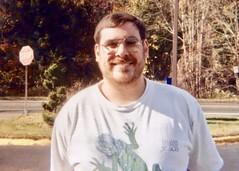 Mark Chesner in Iguana shirt (nomad7674) Tags: markchesner family mark chesner me self nomad nomad7674 iguana tshirt beard man