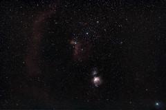 M42 & IC434_1 (NiBe60) Tags: astronomie hobbyastronom nachthimmel orion gürtelsterne pferdekopfnebel orionnebel m42 ic434 rigel brennweite 85mm astronomy hobby astronomer night sky belt stars horsehead nebula focal length