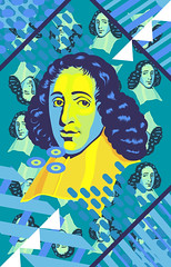 WOo's WOo - Baruch Spinoza (Samir Willems) Tags: contemporaryart contemporaryartist newcontemporary art artgallery artoftheday bestoftheday popart pop illustration portrait stars spinoza baruchspinoza philosophy philosophie