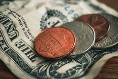 Spare change (De Búrca Photography) Tags: canon money tripod marco