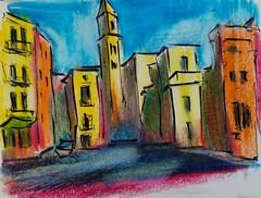 The city of Bari, Italy. (Vladimir Slepchenko) Tags: italia italy bari