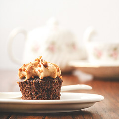 Sweet Treat (Mandy Willard) Tags: tea cupcake cake chocolate teapot cup saucers spoon place 119in2019 afternoontea