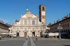 Vigevano, italy: the historic Piazza Ducale (clodio61) Tags: ducale europe italy lombardy pavia piazzaducale vigevano ancient architecture building church city cityscape color day exterior historic landmark old outdoor palace people photography square tower urban
