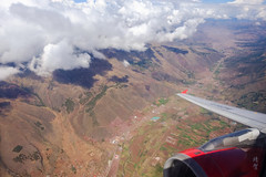 Flying over Choquepata (A. Wee) Tags: peru 秘鲁 flying 飞行 aerial view mountain valley 山谷 peruvian andes choquepata