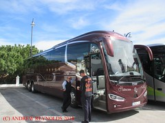 """2018 030716 MERCEDES IRIZAR TRIAXLE LEIVA BUS 2945 JYS IN MIJAS (Andrew Reynolds transport view) Tags: europe spain andalucia transport bus coach transit passenger omnibus diesel """"mass transit"""" 2018 030716 mercedes irizar triaxle leiva 2945 jys in mijas"""