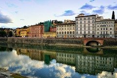 Strolling along the Arno (Tenia Prokalamou) Tags: arno firenze florence reflections lungarno