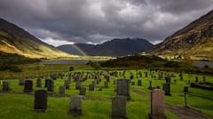 A view for eternity (Phil-Gregory) Tags: church nikon d7200 tokina1120mmatx tokina 1120mmproatx11 1120mm gravestones grass rainbow glenshiel graveyard scotland scenicsnotjustlandscapes light landscapes highlands