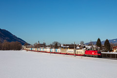 Taurus et Ekol (Maxime Espinoza) Tags: train obb ekol marchandises neige autriche 1116 1016 zug austria