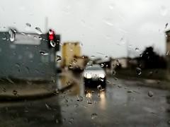 Red light (erion_turullai) Tags: huawei red lights wet rain art wallpaper car