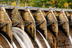 Cheoah Dam – Spillway Gates (Z-Imagery) Tags: america architecture cheoahdam cheoahmountains crestgate cultural dam documentary editorial grahamcounty hdr landscape littletennesseeriver moonshiner28 nc nc28 nchighway28 nantahalanationalforest nationalregisterofhistoricplaces natureandenvironment northamerica northcarolina outhernstates route28 south southatlantic spillwaygate spliiway structure swaincounty tarheelstate us usa unitedstates water autumn autumnal concrete exposurefusion fall fallcolors highdynamicrange openair outdoor placid serene slope tonemapping tranquil nikon d300 tamronxrdildifmacro 2875mm f28
