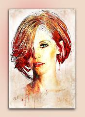 dyed girl (andrzejslupsk) Tags: dyedgirl woman portrait andrzej słupsk slupsk face art photo manipulation