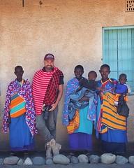 Uccrow & The Maasai's.. (u c c r o w) Tags: maasai uccrow africa arusha tanzania myself selfportrait me colorful colors