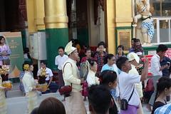 Ordination ceremony for novice Buddhist monks, Shwedagon Pagoda, Yangon (3) (Prof. Mortel) Tags: myanmar burma yangon rangoon buddhist pagoda shwedagon monks