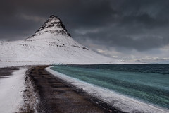 Mt. Kirkjufell (jasty78) Tags: mtkirkjufell mountkirkjufell kirkjufell mountain peak weather morning snow blacksand sea beach ice light shadows landscape snæfellsnes snæfellsnespeninsular snaefellsnes snaefellsnespeninsular iceland nikond810 1635mm 22mm nikkor1635mm nikkor1635mmf4