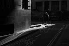 Finch Lane (cybertect) Tags: carlzeissdistagont35mmf28mm cityoflondon cornhill ec3 finchlane london londonec3 sonya7ii blackwhite blackandwhite corner mobilephone monochrome shadow streetphoto