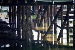 Under Another Pier (sswj) Tags: pier underpier water vancouver britishcolumbia canada composition reflection structure availablelight naturallight existinglight dslr fullframe scottjohnson nikon nikkor28300mm d600 abstractreality