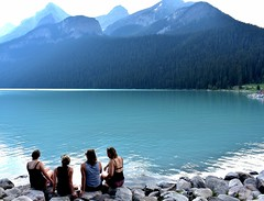 Lake view (thomasgorman1) Tags: lake people women tourists travel lakefront lakeview forest mountain mountains scenic scenery nature nikon canada banff alberta