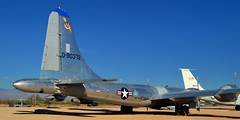 USAF Boeing KB-50J Superfortress aerial tanker - Pima Air & Space Museum, Tucson, Arizona. (edk7) Tags: nikond3200 edk7 2013 us usa arizona tucson arizonaaerospacefoundation pimaairspacemuseum unitedstatesairforce usaf tacticalaircommand boeingairplaneco boeingkb50jsuperfortress sn490372 1956 fourpistonengine twinjet strategicbomber aerialrefuelingtanker aviation plane airplane aircraft propellor jet coldwar prattwhitneyr436035waspmajor28cylindersuperchargedfourrowradial3500hp generalelectricj47ge23turbojet5200lbf museum sky tree fence gravel car