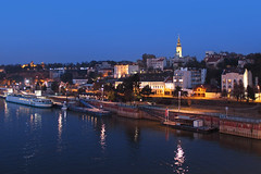 Belgrade, Serbia (russ david) Tags: belgrade serbia sava river capital architecture blue hour београд beograd brankov most brankos bridge white city november 2018 republic република србија republika srbija