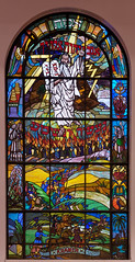 Stained Glass (uncledougie) Tags: synagogue stainedglass jewish moses religion chicago