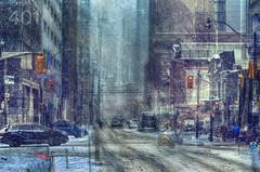 401 (an urban escapade) (Paul B0udreau) Tags: nikkor70300mm canada ontario paulboudreauphotography niagara d5100 nikon nikond5100 snowstorm toronto city street winter collage