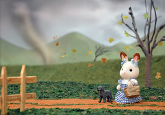 Sylvanian families - Wizard of Oz (Sylvanako) Tags: sylvanian families twister cyclone calico critters diorama miniature wizard oz dog toto dorothy doll toy toys toyphotography