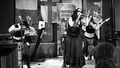 Event Horizon March 2019 026 (byronv2) Tags: music musician woman women makeup stage band krow krowandtheelectrictemple goth gothic punk electro blackandwhite blackwhite bw monochrome dance shorelineofinfinity eventhorizon edinburgh edimbourg scotland frankensteins georgeivbridge