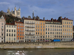 Overlooking the River Saône (jrw080578) Tags: river church buildings france lyon