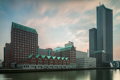 Spoorhaven 2 (Rens Timmermans) Tags: canon5dmk3 canontse24mmf35ii architectuur rotterdam avondfotografie water lucht ngc nationalgeographic grijsfilter10stop