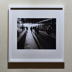 Long shadows (p2-r2) Tags: printed framed blackandwhite darkroom wet ilford multigrade mg iv netherlands nikon f3 f3hp agfa apx 100 new emulsion eindhoven