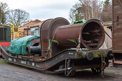 Boiler on low loader.jpg (Bob Green 52) Tags: svr severnvalleyrailway bewdley worcestershire railway rails