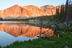 Mirror Lake, Snowy Range Edition (NaturalLight) Tags: mirrorlake mirror lake snowyrange mountain alpenglow wyoming alpine