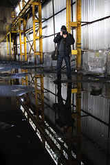 On reflection? (Capt' Gorgeous) Tags: wernworks neath britonferry wales industry urbex derelict factory