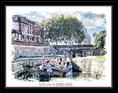 LA PENICHE DU BRIENNE (** Capo Jean-claude * <°)))) ><) Tags: france tableau numerique digital artistes artistique creation canaldebrienne peniche canal eau bateau water boat