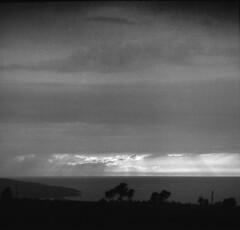 Sunset at Otok Hvar (lumpy79) Tags: otok hvar arax60 carl zeiss jena sonnar 28180 ilford pan f plus 50 f4 1160 croatia horvátország blackandwhite bw feketefehér film epsonv500