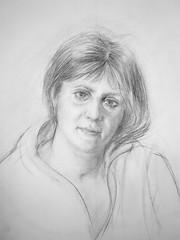 Wife 1996 (Gasheh) Tags: art painting drawing sketch portrait woman wife pencil gasheh 1996