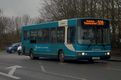 Junior Cadet: Arriva Harlow (ex Colchester) DAF SB120/Wright Cadet LJ03MZL (3520) Dunmow Road Bishops Stortford 28/02/19 (TheStanstedTrainspotter) Tags: arriva arrivakentthameside bus buses stansted stanstedmountfitchet public transport publictransport bishopsstortford harlow networkharlow vdlsb120 sb120 vdl wright cadet wrightcadet 3520 lj03mzl 508 509 510 stanstedairport dunmowroad colchester transfer move