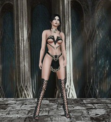 Entice at Enchantment 1 (Treycee Melody) Tags: entice event shopping outfit bra top skirt belt panties mesh fatpack fashion style secondlife womens
