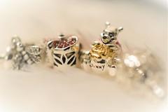 Hunny. (explored 4/3/19) (flowergirlaaa) Tags: 7 honey hunny disney jewellery jewelry bracelet silver charms winniethepooh bear flower macro macromondays highkey