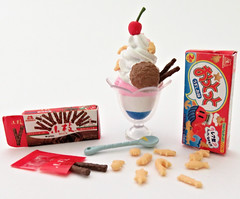 Morinaga Sweets Recipe # 4 (MurderWithMirrors) Tags: rement miniature food morinaga mwm sundae icecream crackers cookies spoon box