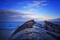 On the rocks! (Elaine Delworth) Tags: rocks seashore sea sky clouds wales
