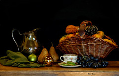 (mevans4272) Tags: pears grapes basket cup pitcher fruit