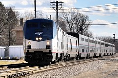 Switiching Mains at Rondout (Laurence's Pictures) Tags: amtrak empire builder rondout illinois passenger rail train travel transportation railroad railway cp canadian pacific
