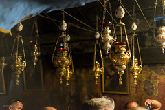 Church of the nativity Bethlehem-1476 (toniertl) Tags: bethlehem churchofthenativity israel2017 toniphotoxoncouk ancient icons westbank palestine christian faith religion worship art adoration orthodox catholic armenian shared birth jesus legend lamps gold