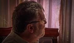 Four (Robert Borden) Tags: man self selfportrait portrait naturallight goodlight goodlighting curtain beard glasses fuji fujifilmxt2 fujiphotography santaclarita la losangeles socal california 50mm 50mmlens 50mmprime primelens people