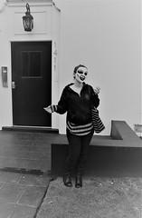 (Bart D. Frescura) Tags: mask masked maskedportrait maskbybdf blackandwhite creepy creepycalifornia creepsville frescuraobscura bartdfrescura darkart sistersantos elaine latexmask halloweenmask ghoulgirl