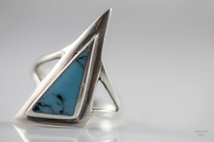 Material girl (eMMa_bOOm) Tags: macromondays themebased jewelry jewellery ring silver turquoise stone favourite coloured shaped blue gem