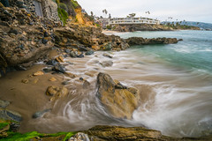 Just a second... (tquist24) Tags: california fishermanscove lagunabeach nikon nikond5300 pacificocean beach cliff clouds geotagged longexposure ocean rocks sky water