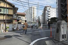 Tokyo.渋谷区東 比丘橋 (iwagami.t) Tags: iwagamitetsuo fujifilm fuji xt1 xf14mm japan tokyo city town urban street bridge apartment building people 201902